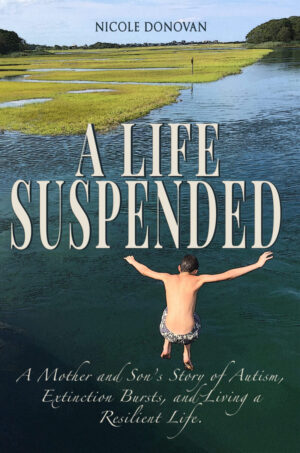 boy jumping in water, cape cod, a life suspended